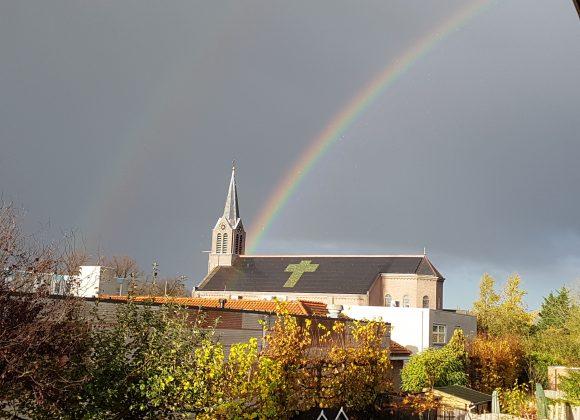 Regenboog aan de Horizon