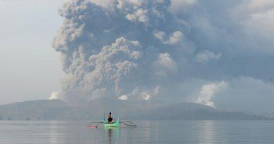 Philippines – Taal Volcano eruption.